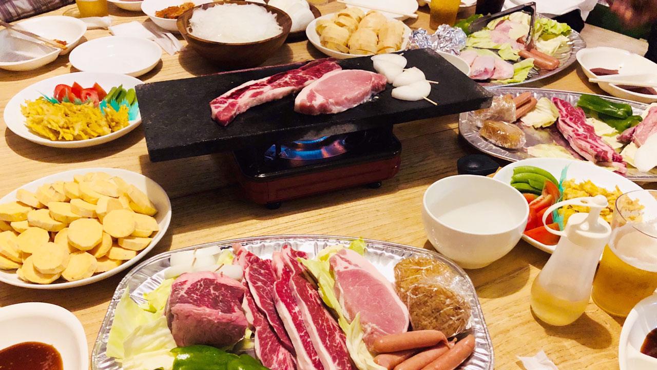 新鮮魚介とブロック牛の豪華BBQコース